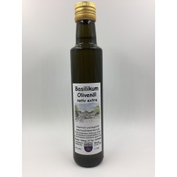 Basilikum-Olivenöl nativ extra kalt gepresst 250 ml